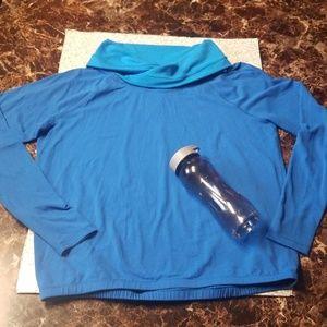 Lululemon Blue Cowl-Neck Long sleeve Sweatshirt
